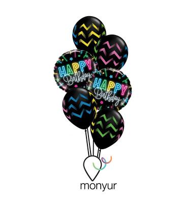 Neon Birthday Balloon Balloon Bouquet