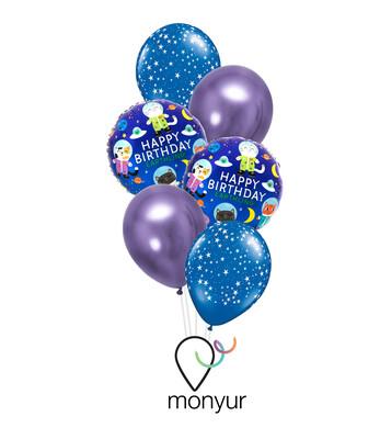 Boho Chic Birthday Balloon Bouquet