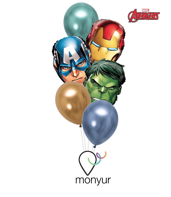 Avengers Heads Balloon Bouquet