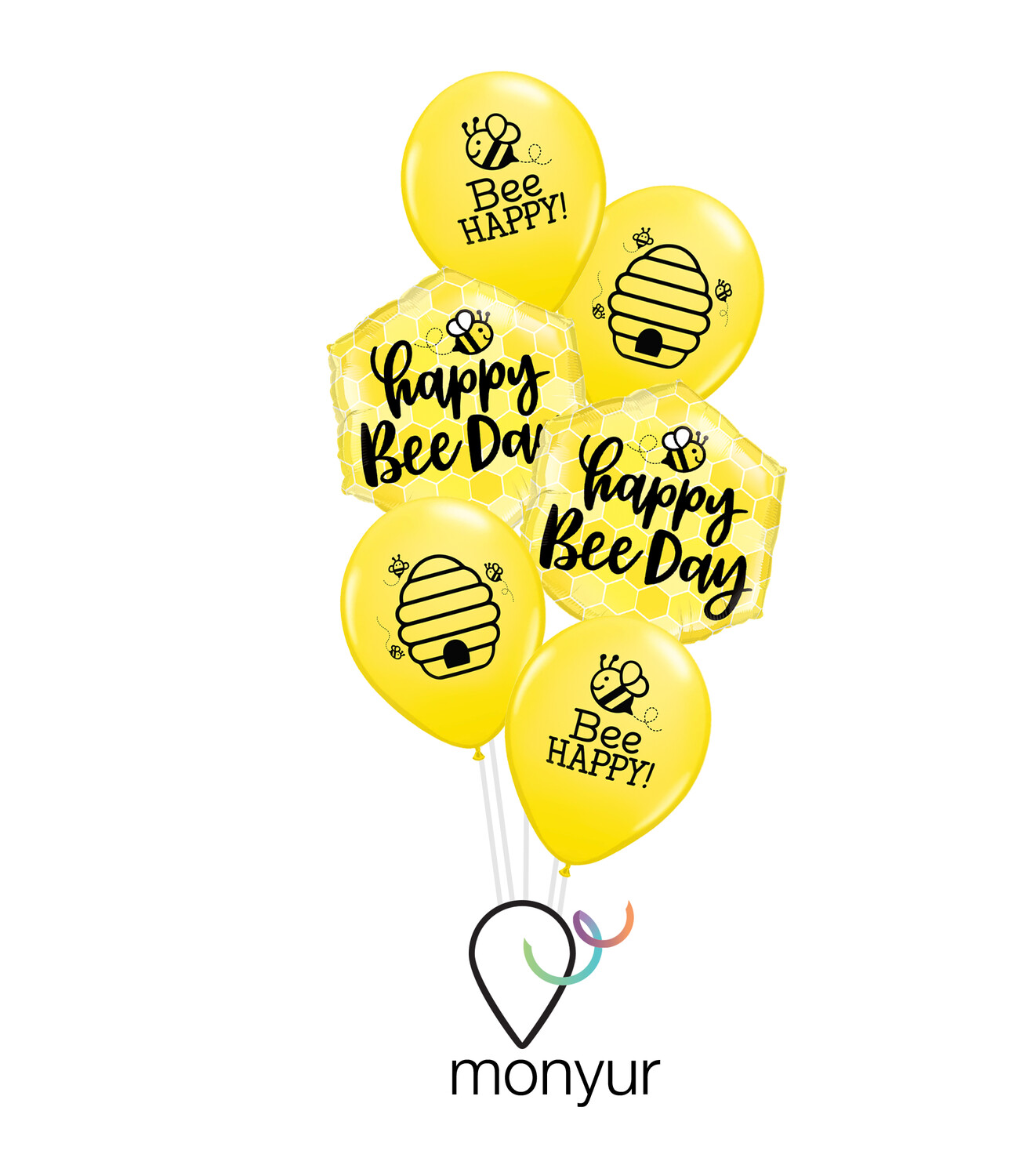 🐝 Happy Bee Day Balloon Bouquet