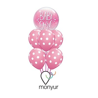 Pink Baby Girl Balloon Bouquet