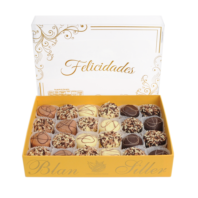 24 Bombones cubiertos de Chocolate Fino
