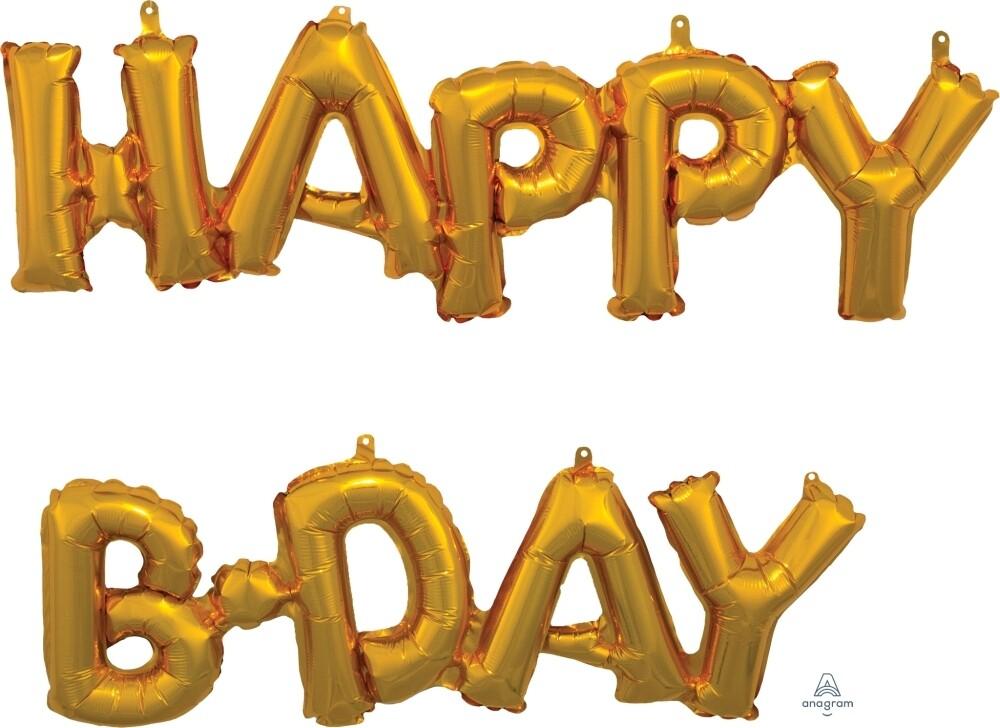 Globos Happy Birthday (Aire)
