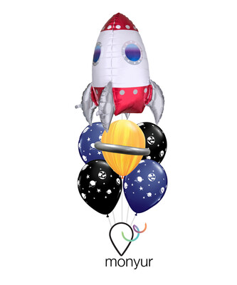 Space Rocket Balloon Bouquet