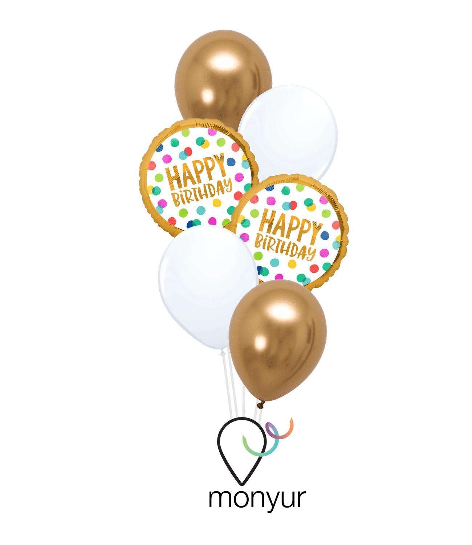 Happy Dots Birthday Bouquet de Globos