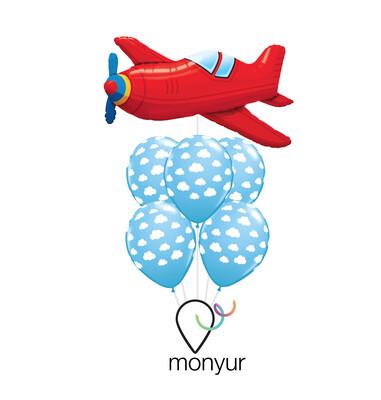 Airplane Mode Balloon Bouquet