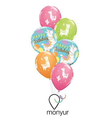 Happy Llama Birthday Balloon Bouquet