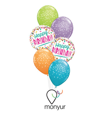 Sparkles Birthday Balloon Bouquet