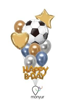 Football Soccer Balloon Bouquet XL
