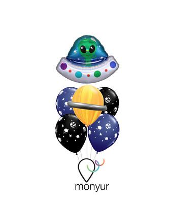 UFO Balloon Bouquet