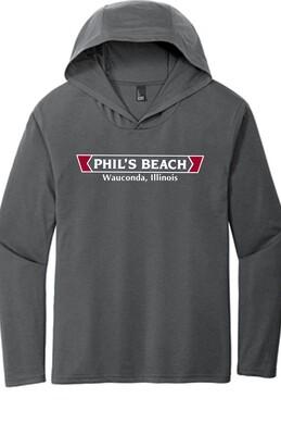 Phil's Beach Men's Long Sleeve Hooded T-shirt