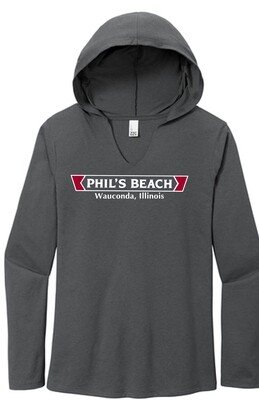 Phil's Beach Women's Long Sleeve Hooded T-shirt