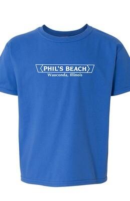 Phil's Beach Youth T-shirt - Blue