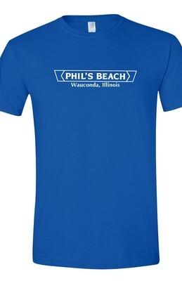 Phil's Beach T-shirt -Blue