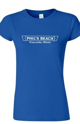 Phil's Beach Women's T-shirt - Blue