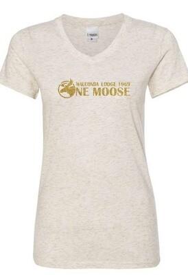 One Moose Women's Glitter V-Neck