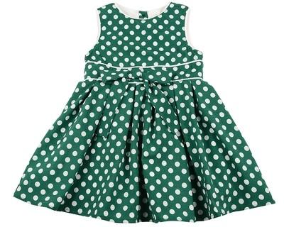 Платье (98-122см) UD 6265(2)зелен.горошек