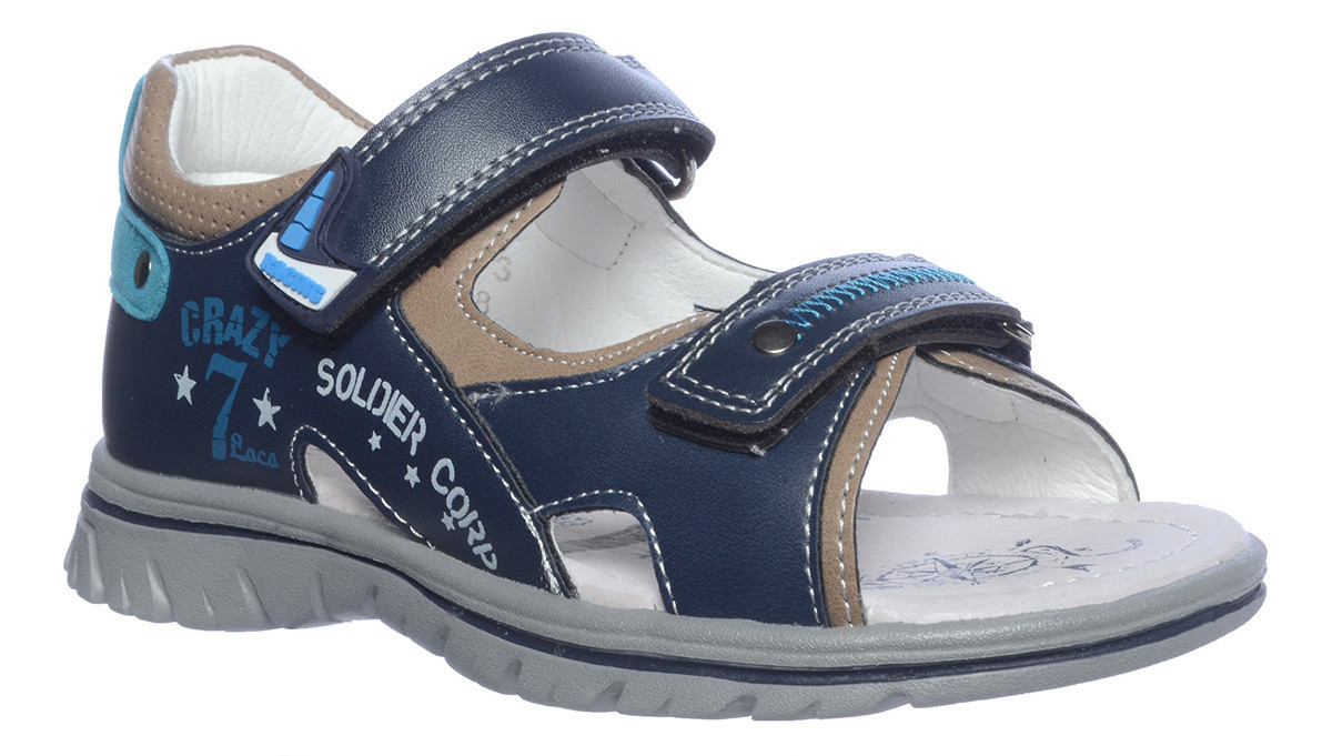 B-5373 Т.Синий  Tom&Miki Сандалии оптом, размеры 27-32
