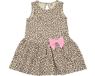 Платье (98-122см) UD 6388(1)беж.леопард
