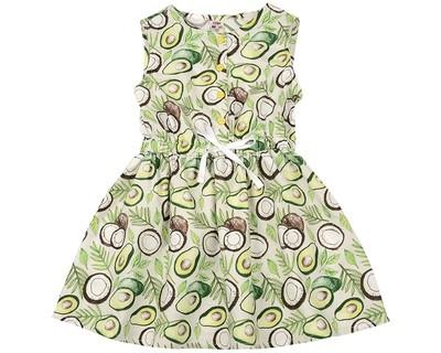 Платье (98-122см) UD 6413(1)авокадо