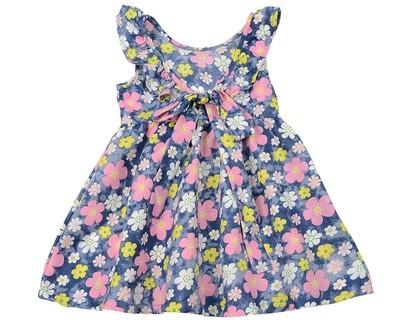 Платье в цветочек (80-92см) UD 6437(1)синий