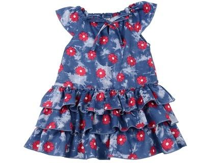 Платье (80-92см) UD 6439(1)син/малина