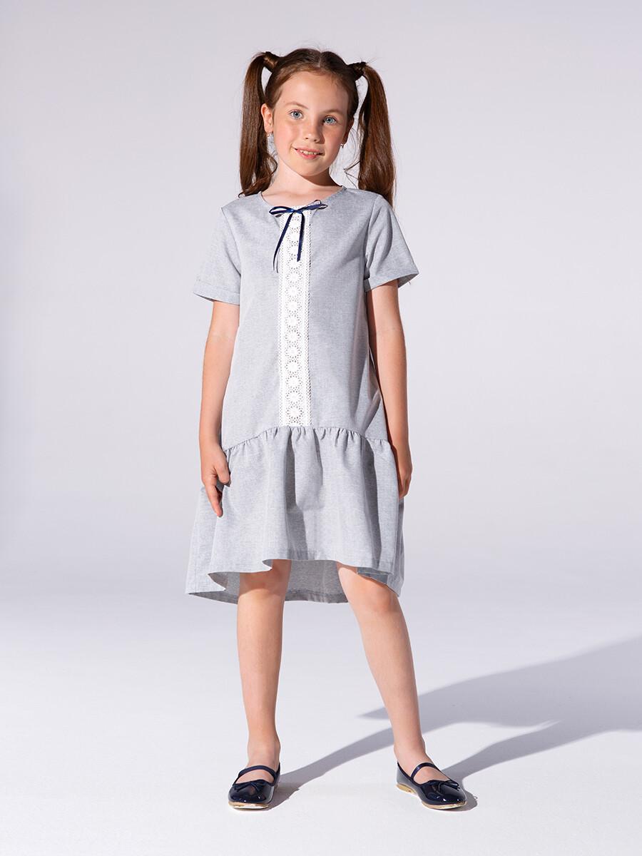 Платье (122-146см) UD 6622(1)серый