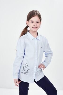 Сорочка (рубашка) (92-116см) UD 6186(1)голуб