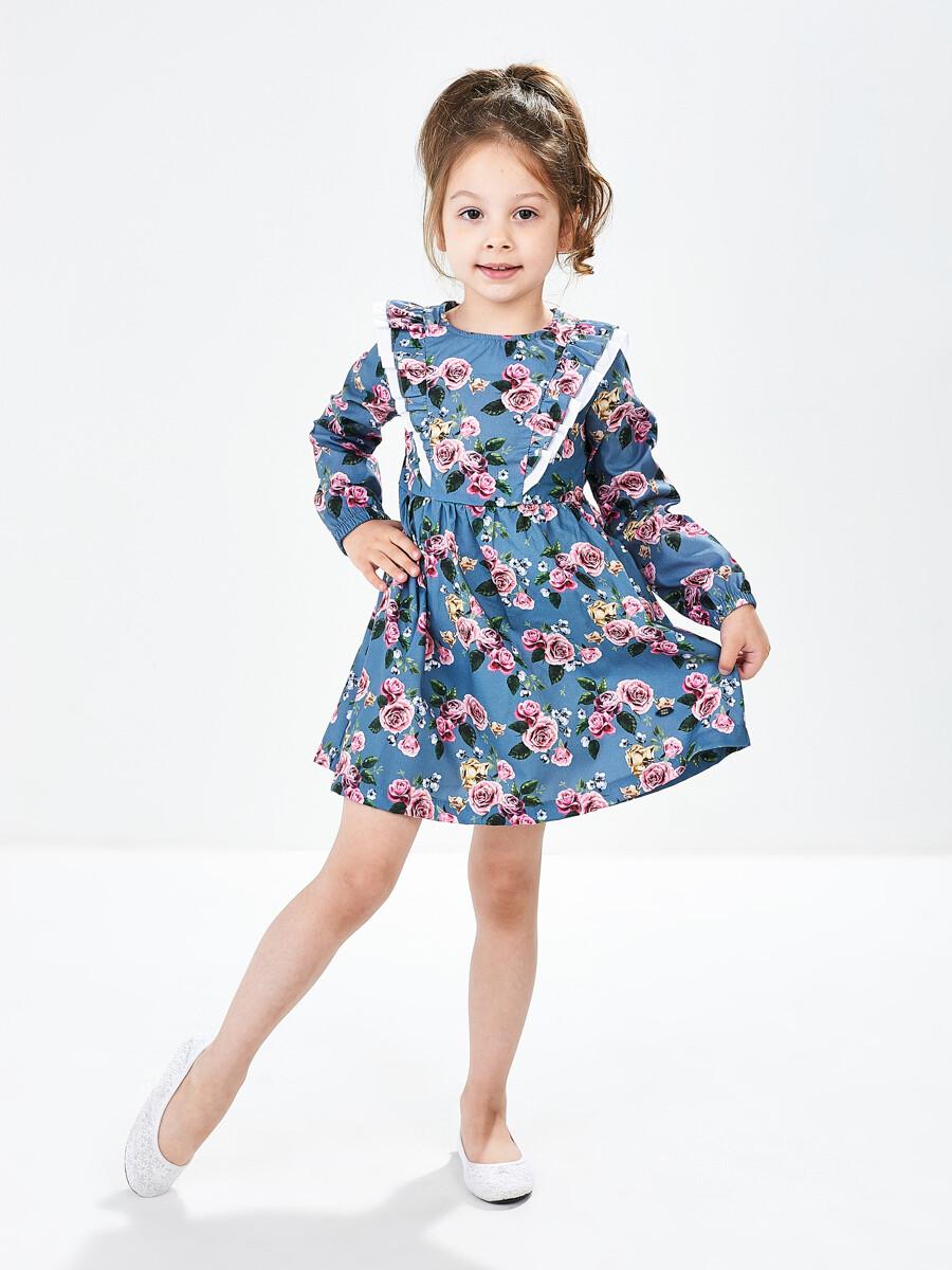 UD 4856(2)син.розы  Mini Maxi Платье (98-116см)