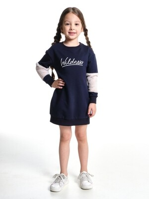 Платье (98-122см) UD 6843(1)т.синий