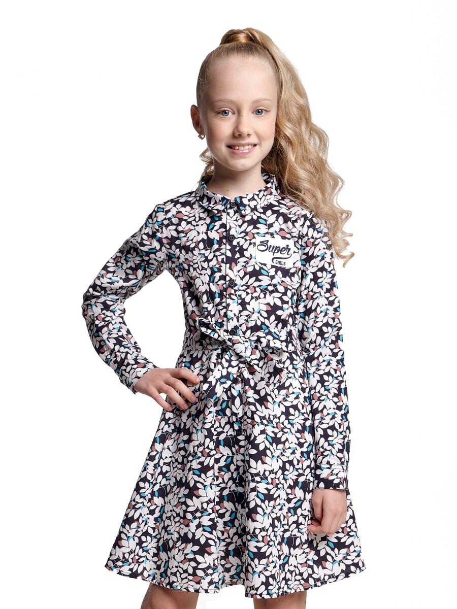 Платье (98-122см) UD 6206(1)син.лепестки