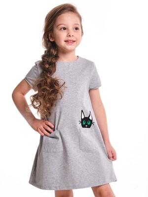 Платье (98-122см) UD 6293(1)серый