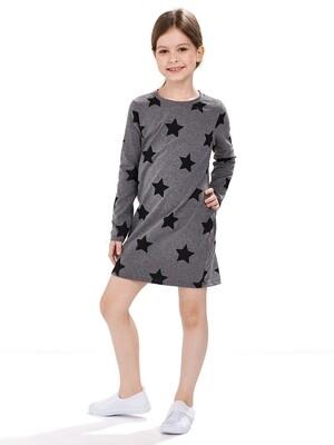 UD 4333(1)графит  Mini Maxi Платье со звездами (98-116см)