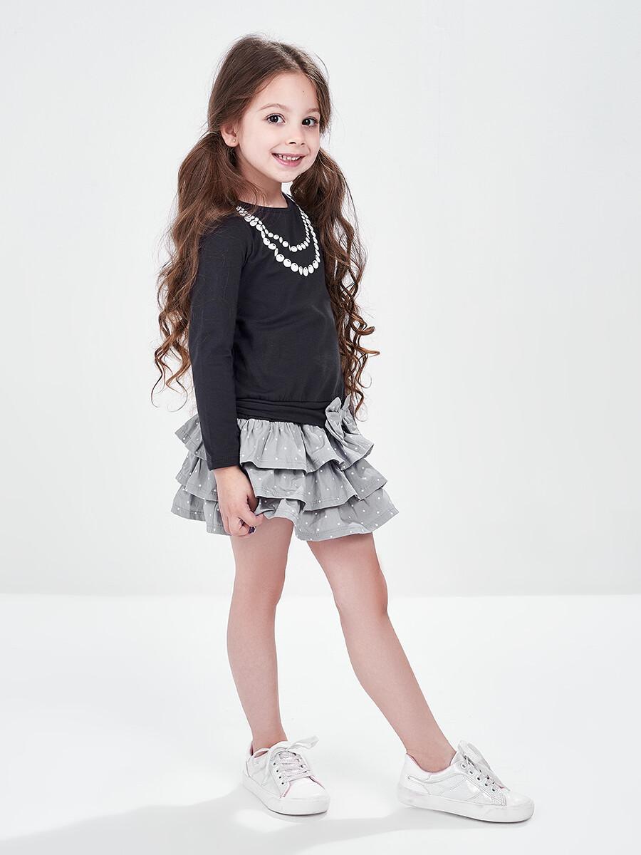 UD 0417(1)антрацит  Mini Maxi Платье с принтом Бусы (98-116см)