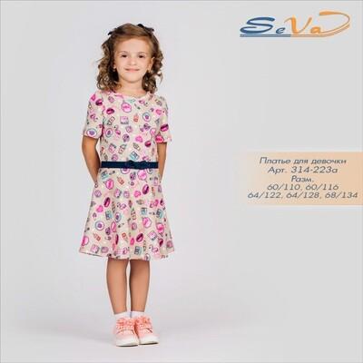 314-223а SeVa Платье для девочки (110-134см)