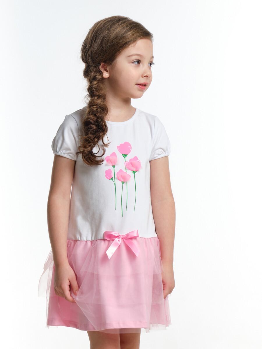 UD 3960(1)бел/розов  Mini Maxi Платье (98-122см)