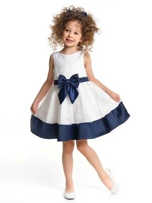 Платье (98-122см) UD 6885(1)бел/синий