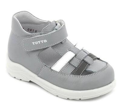 092/1-02 (серый-белый) ТОТТА Сандалии оптом, размеры 27-31