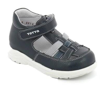 092-02 (серый/джинс/синий) ТОТТА Сандалии оптом, размеры 23-26
