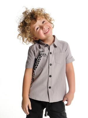 UD 4666(1)св.серый  Mini Maxi Сорочка (рубашка) (98-122см)