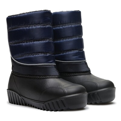 555 Сапоги Дюна Сноубутсы оптом т.синие/черный, размеры 34-41