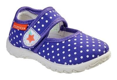3-214TF Туфли текстильные Ecotex оптом, размеры 23-30