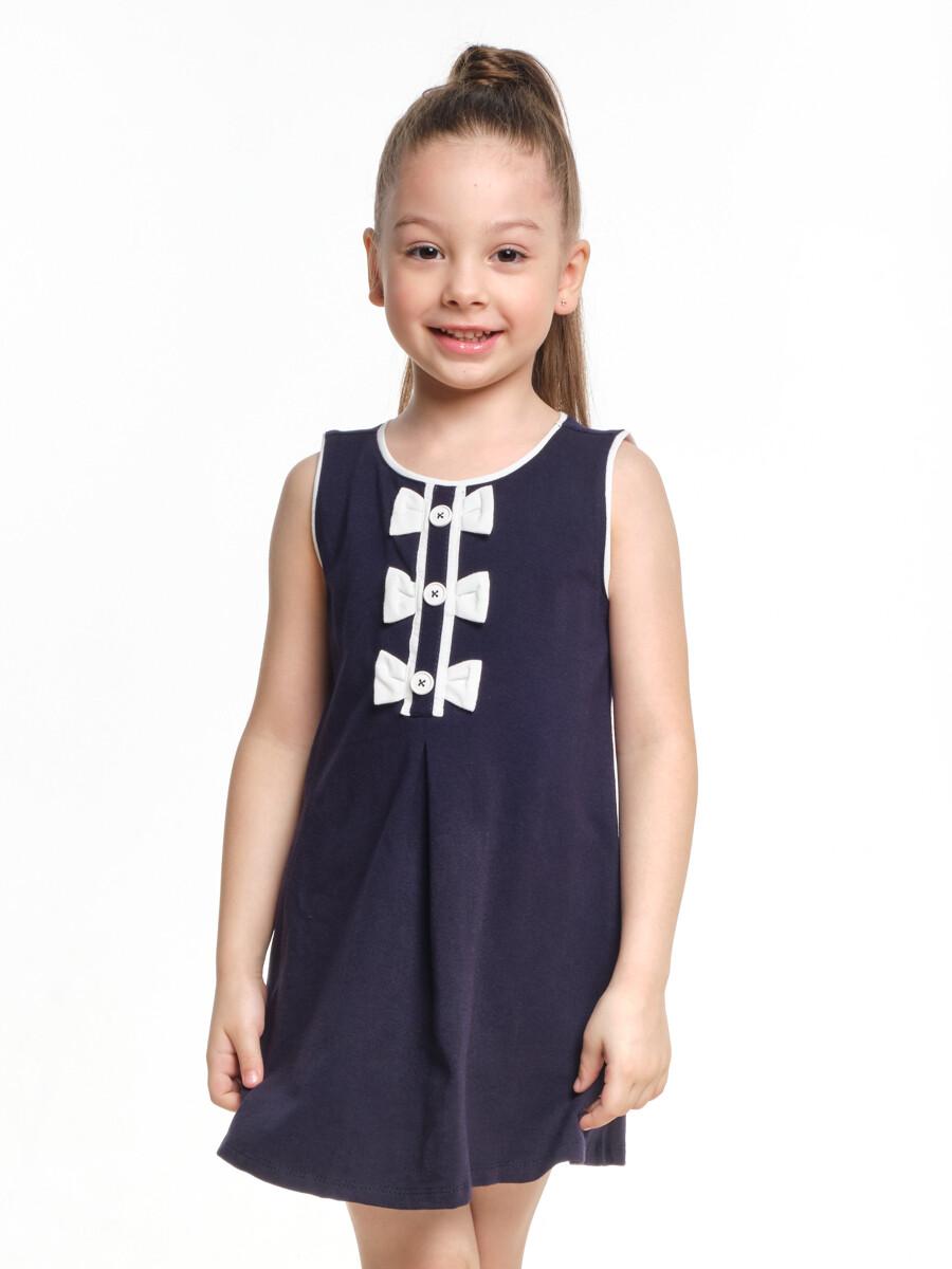 Платье с 3 бантиками (98-122см) UD 1471 синий