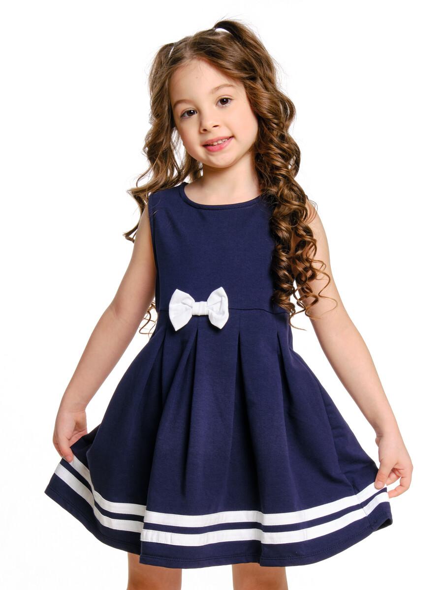 Платье с бантом (98-116см) UD 1003(2)синий