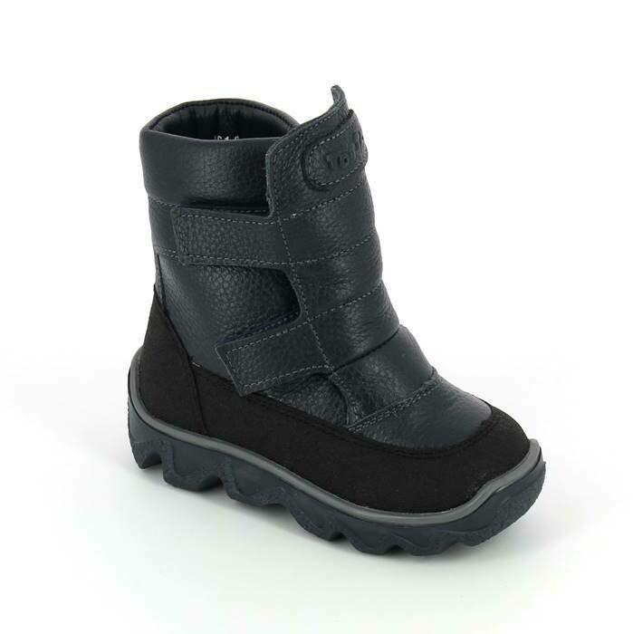 452-МП-02 (синий) ТОТТА Ботинки зимние (нат. мех), размеры 23-26