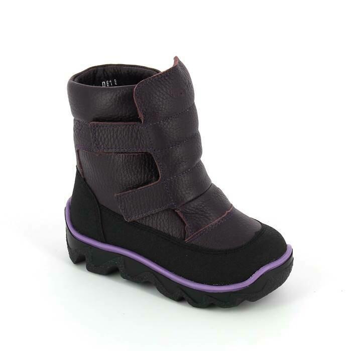 453-ТП-03 (баклажан) ТОТТА Ботинки зимние (нат. шерсть), размеры 23-26
