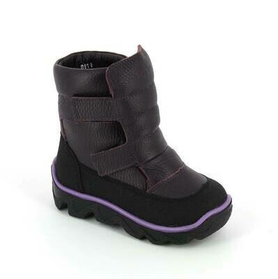 452-МП-03 (баклажан) ТОТТА Ботинки зимние (нат. мех), размеры 23-26