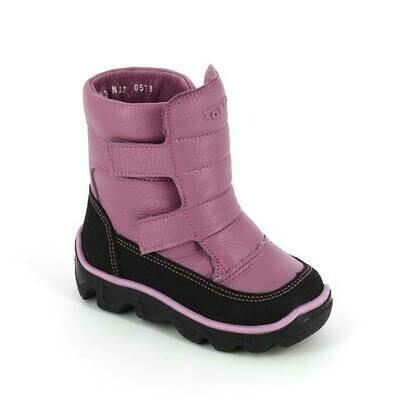 452-МП-01 (сирень) ТОТТА Ботинки зимние (нат. мех), размеры 23-26