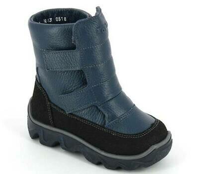 453-ТП-05 (джинс) ТОТТА Ботинки зимние (нат. шерсть), размеры 23-26