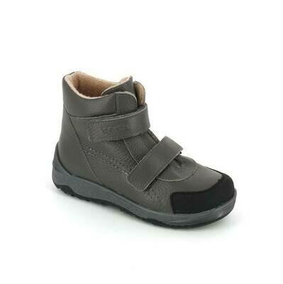2458/1-БП-02 (серый) ТОТТА Ботинки на байке, размеры 31-35